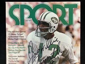 Joe Namath Signed Sport Mag July 72 No Label NY Jets Football Autograph HOF JSA