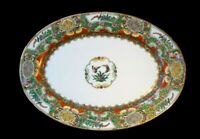 Stunning Vintage YT Decorated In Hong Kong Famille Rose Large Platter