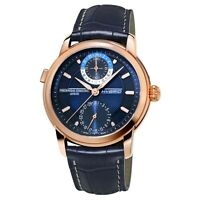Frederique Constant Men's FC-750N4H4 Hybrid Automatic Navy Band 42mm Watch