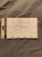 Vintage Gibson Thank You Cards Pure White 8 New Blank Inside Beautiful Design