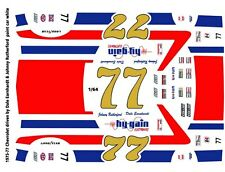#77 Dale Earnhardt hygain Chevy 1/64th Ho Scale Slot Car Decals Rutherford