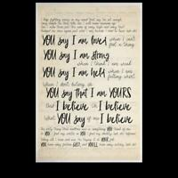 Lauren Daigle You Say I'm Loved When I Can't Feel A Thing Satin Portrait Poster