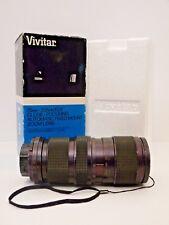 Vivitar 75mm 205mm f3.8 Close Focus Auto Zoom Lens Universal Mount Original Box