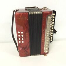 Vintage Hohner Erica Accordion Red #554