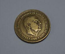 UNA 1 PTA Peseta Spain Spanien ESPANA 1966 Francisco Franco Münze Coin TOP!