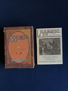 MTG Alpha Starter Deck (Empty) with Worzel (Garfield) Rulebook Original 1993