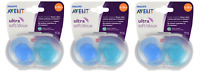 Philips Avent Ultra Soft Pacifiers 6-18m, Blue/Teal #SCF212/23, 2 Ct (Pack of 3)