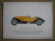 ALFA ROMEO 6 C 1750 SUPER SPORT 1929 PORTFOLIO SCALA 1/18 SOFAR 1963 DALLEGRET