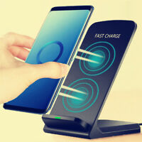 Qi Wireless Fast Charger Charging Pad Stand Dock For Samsung S9 S8 iPhone X XS 8