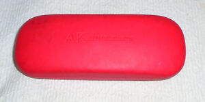 AK Anne Klein Red Sunglasses Eyeglasses Hard Case Clamshell Near Mint Condition