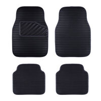 Car Floor Mat Universal Black Side Front Rear Leather 4 PC for SUV VAN SEDAN
