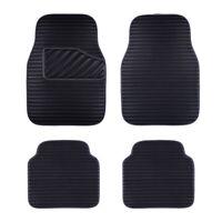 Car Floor Mat Universal Black Side Front Rear Leather 4 PC for SUV VAN SEDAN