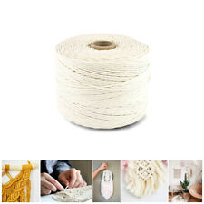 200m 3mm Natural Craft Macramé Cotton String Artisan Thread Twisted Cord