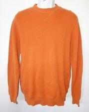 Burton Thermal Shirt Men S Long Sleeve Shirt Orange Waffle Knit Long Sleeve t7