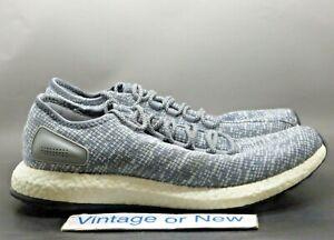 Men's Adidas PureBoost Grey Running Shoes BA8900 sz 12
