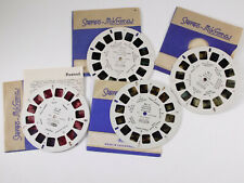 View-Master 4 Assorted Reels Meopta Stereo Mikroma - RR