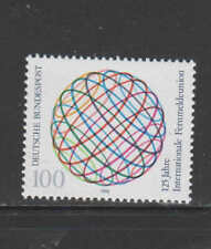 GERMANY #1604  1990 INT'L TELECOMMUNICATION 125TH ANNIV.    MINT  VF NH  O.G