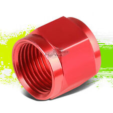 8AN AN8 AN-80  FEMALE PIPING TUBE NUT RED ALUMINUM FINISH FITTING ADAPTER
