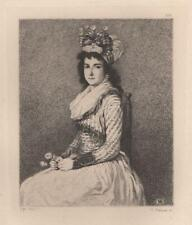 Francesco Goya Charlotte Corday 10064 etching Hedouin Xixth