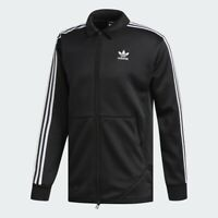 Adidas Originals Windsor Track Jacket Top Black White 3 Stripes DH3829 Men's S