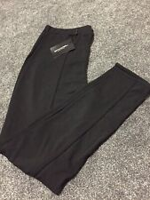 black high waisted straight leg trousers Size 20