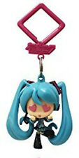 Vocaloid 2'' Hatsune Miku Heart Eyes Hanger Figure Bag Clip Key Chain NEW