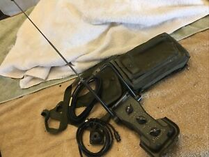 Military Radio PRC-25 PRC77 PRC-6 Antenna AT-1082 Direction Finder W/Cables Case