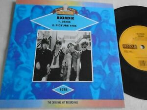 BLONDIE - DENIS / PICTURE THIS  OLD GOLD CUSTOM SLEEVE EX