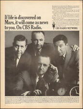 1967 Vintage ad for CBS Radio Network Walter Cronkite Mike Wallace     (040518)