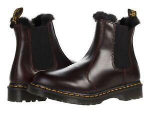 Women's Shoes Dr. Martens 2976 LEONORE Leather Chelsea Boots 26332601 OXBLOOD