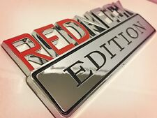 REDNECK EDITION car truck FORD EMBLEM logo decal SIGN chrome RED NECK NEW* .05