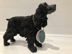 Black English Cocker Spaniel Ornament Gift Figure Figurine