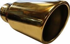 "9"" 230mm Back Slash Cut Round Big Bore Exhaust Tip Stainless Steel Clip On"