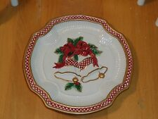 Fitz and Floyd Essentials Holiday Bells Christmas Cookie Plate Tray Platter 8�