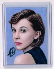 2018 ACEO Sketch Card MILLIE BOBBY BROWN Stranger Things 1/1