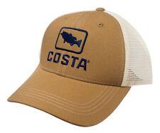 275459c9b5 Costa Del Mar Bass Trucker Hat Working Brown Cotton Adjustable XL cap HA18WB