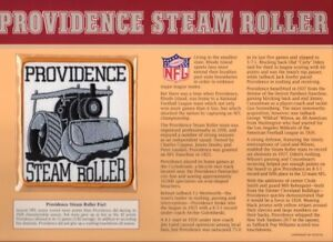 PROVIDENCE STEAM ROLLER Willabee Ward NFL GOLDEN AGE FOOTBALL PATCH & INFO CARD