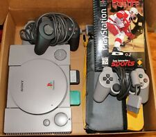 Sony PlayStation 1 Original Gray Console, 4 Controllers, and 23 games w instruct