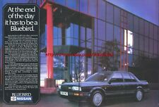 Nissan Bluebird ZX Turbo 1987 Double Page Magazine Advert #2330