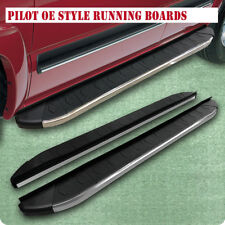 "For 16-18 Honda Pilot Sport 6"" Running Boards Rail Bar Side Step Silver & Black"