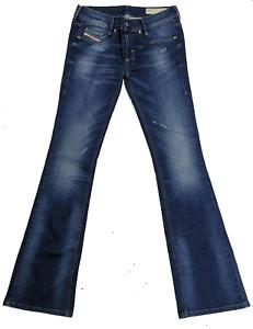 Diesel Damen Jeans Louvboot 00CUM1 0664S Slim-Bootcut Low Waist Women Pants