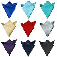 Solid 15 Color For Wedding Dress Party Silk Hanky Pocket Square Handkerchief