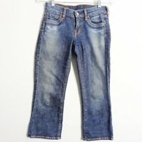 Citizens Of Humanity Willow Creek #098 Low Waist Crop Jeans Distressed Size 24