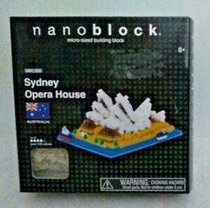 Nanoblock Micro Sized Building Blocks Sydney Opera House  NBH_052   NIB