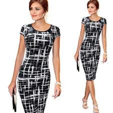 Summer Women's Striped Bodycon Pencil Office Work Wear Business Party Mini Dress