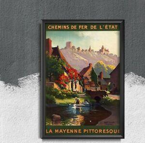 Brittany France Travel Poster Vintage Poster, Art Print, Vintage Travel, Holiday
