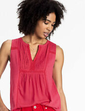 LUCKY BRAND Embroidered Pintuck Tank Top RASPBERRY WINE Size Extra Large XL NWT