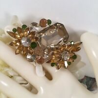 Vintage Jewellery Floral Brooch Pin Flowers for Coat Hat Dress Crystal Jewelry