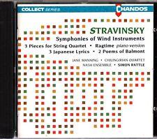 Stravinsky - Symphonies Of Wind Instruments CD String Quartet Simon Rattle