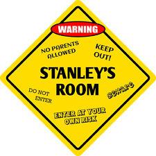 """*Aluminum* Stanley's Room Kids Room Door 12""""x12""""  Metal Novelty Sign"""